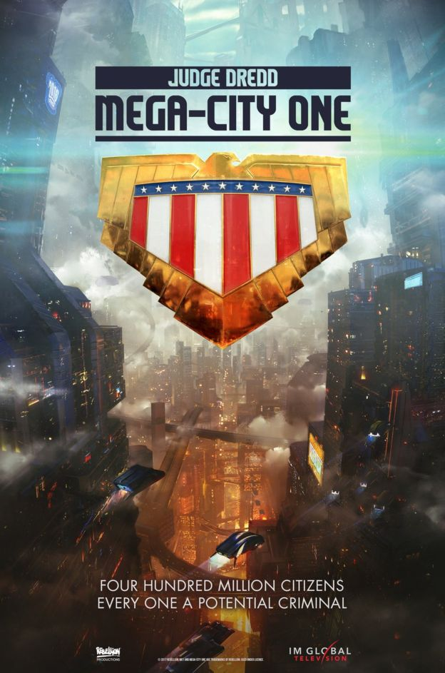 """I AM THE LAW!"" Judge Dredd Based Series 'Mega-City One' Reveals Its Teaser Poster."