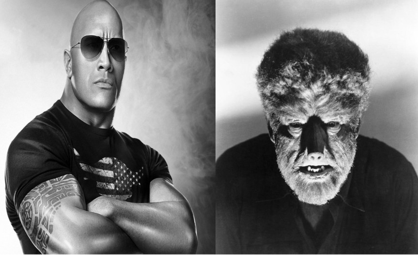 """IF YOU SMELL, WHAT THE WOLFMAN IS COOKING"" Universal Eye Up Dwayne Johnson for Their Dark Universe"